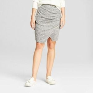 Women's Knit Wrap Skirt - A New Day™ Heather